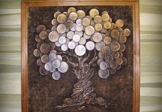 Деревья из монеток своими руками фото