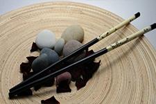На бамбуковых палочках