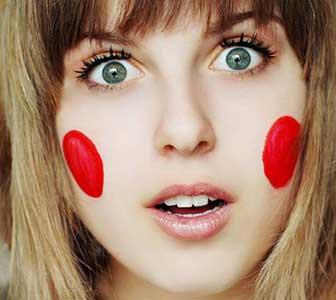 Красные щеки по дням