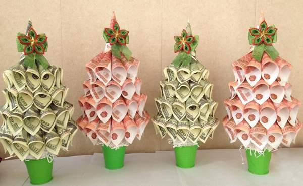 денежное дерево елка своими руками