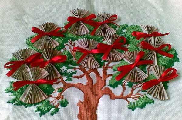 вышивка денежного дерева