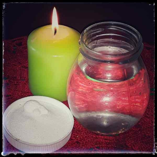 вода. соль, свеча